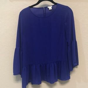 Cobalt blue blouse from j crew